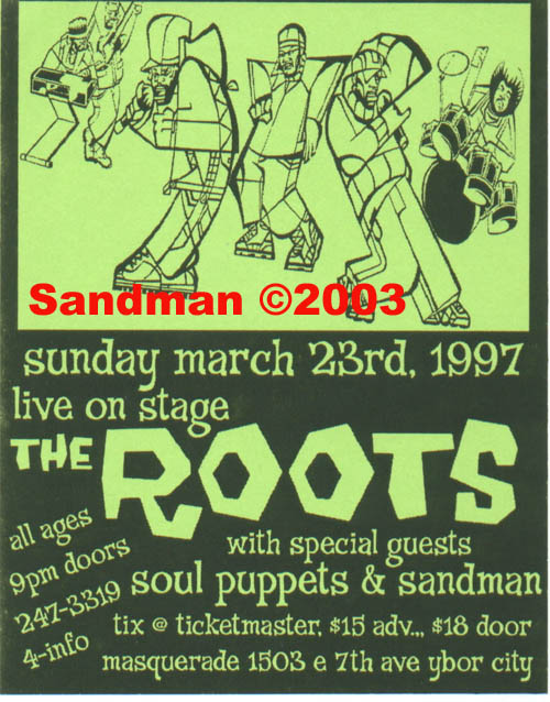 oldschool flyer -The Roots
