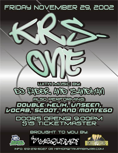 oldschool flyer -Krs One 3