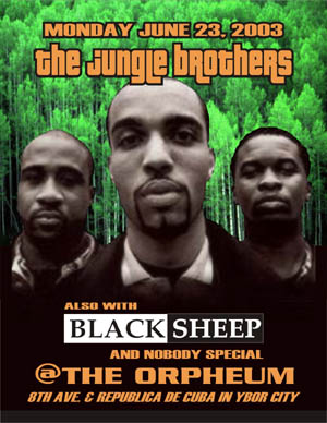 oldschool flyers -Jungle Brothers & Black Sheep
