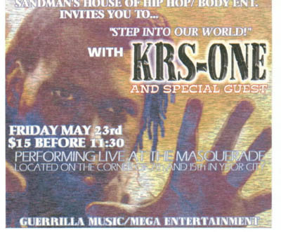 oldschool flyer -Krs One