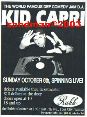 oldschool flyer -Kid Capri