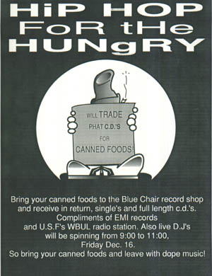 oldschool flyers -Hip Hop For The Hungry