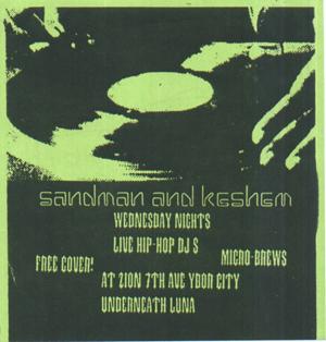 oldschool flyers -Dj Sandman & Ke'shem