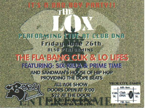 oldschool flyers -The Lox