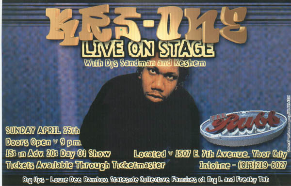 oldschool flyers -Krs One 4