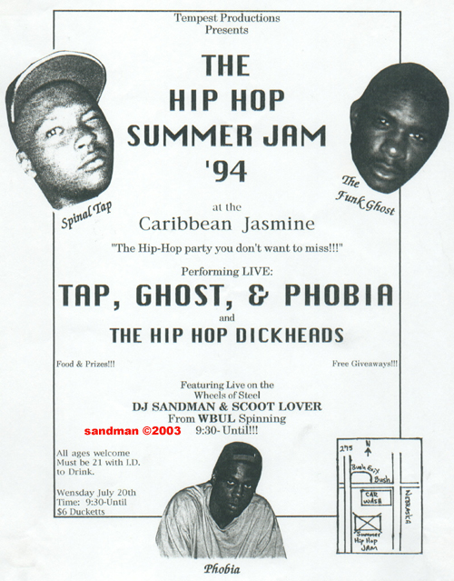 oldschool flyers -Tap, Ghost, & Phobia