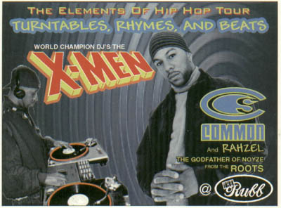 oldschool flyers -Common & X-Men