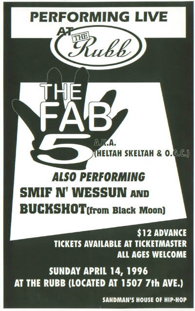oldschool flyer -Fab 5
