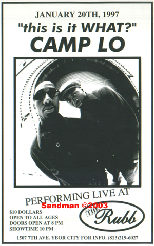 oldschool flyer -Camp Lo